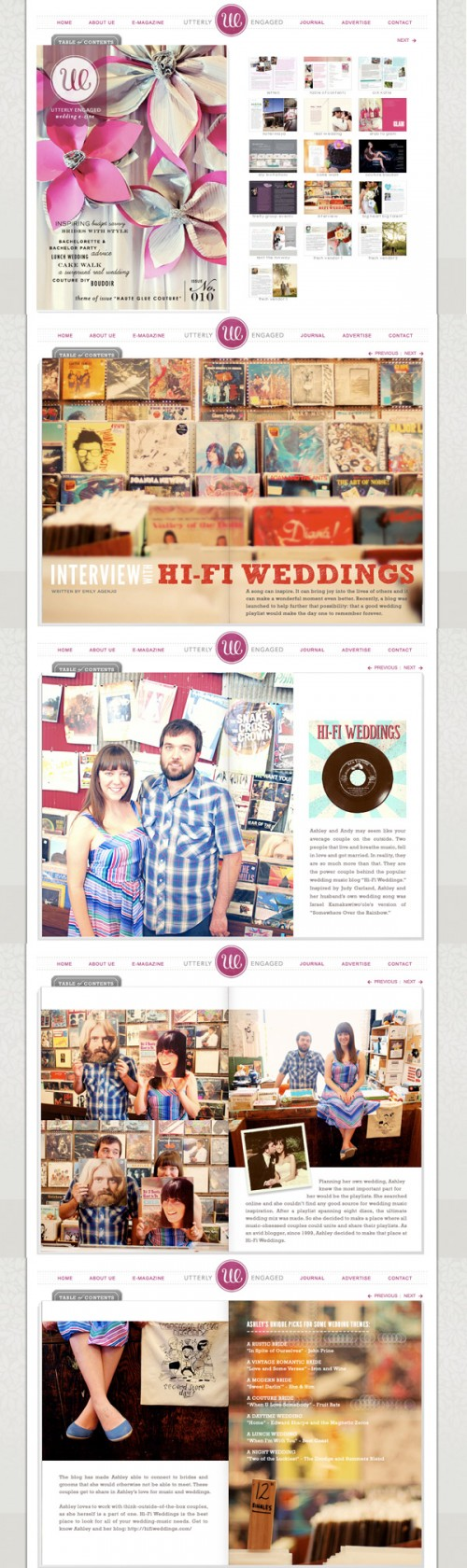 Hi-Fi Weddings on Utterly Engaged